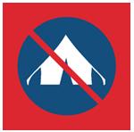Палатки запрещены