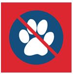 Проход с домашними животными запрещён