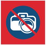 Проводить фото- и видеосъёмку запрещено